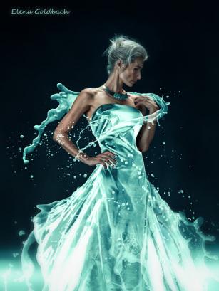 Elena Goldbach Fotoillusionistin Frau in weiß