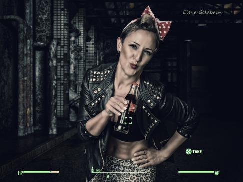 Elena Goldbach Fotoillusionistin blonder Gladiator