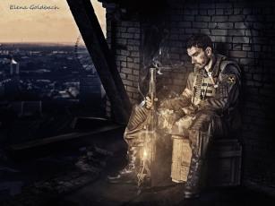 Elena Goldbach Fotoillusionistin schwarzer Cowboy